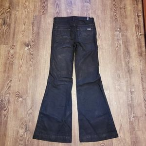7FAM GINGER FLARE BLACK LUXE COATED SHINY 26/29